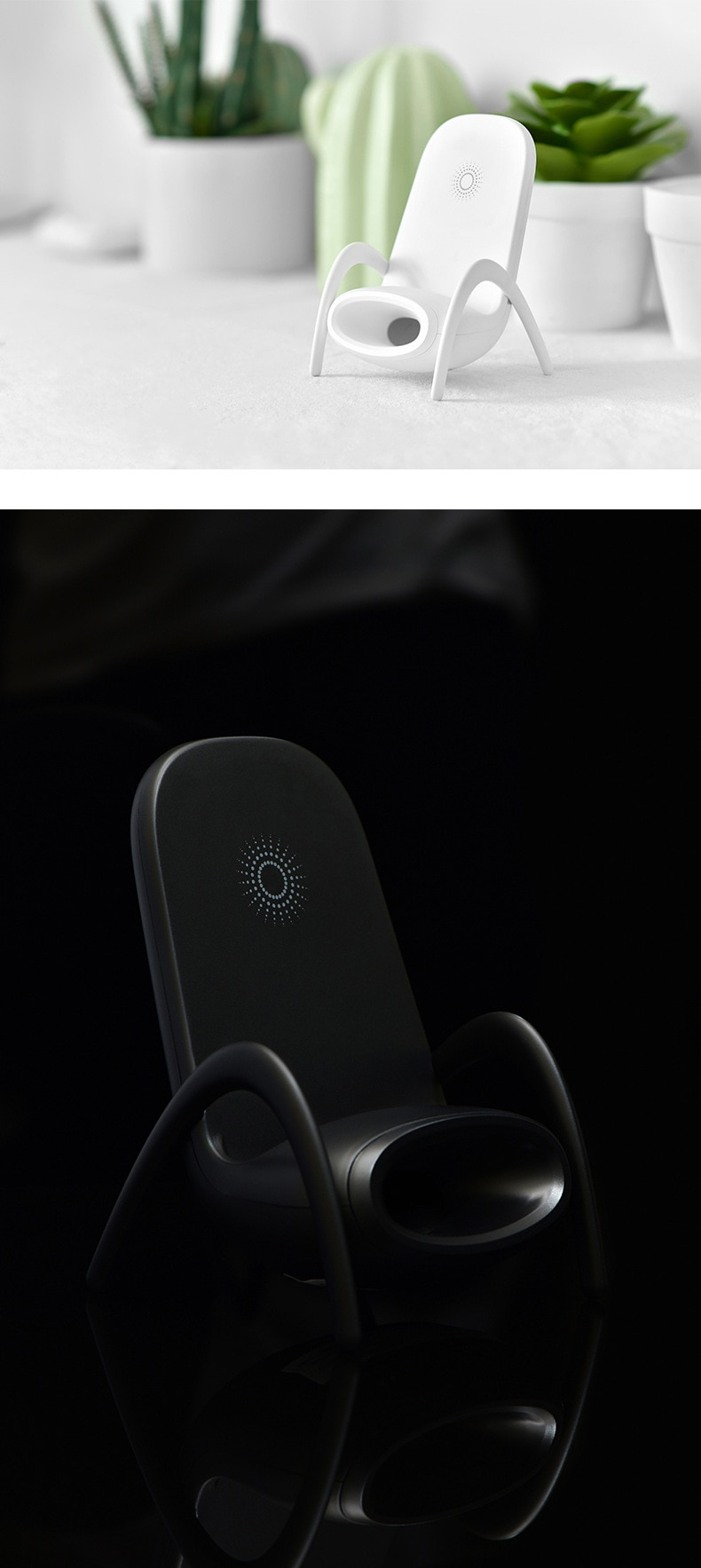 Portable Mini Chair Fast Wireless Charger With Speaker